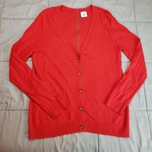 CAbi Cobblestone Red Cardigan Style# 3155